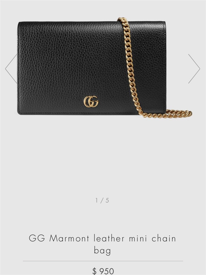 首发!Gucci GG Marmont leather mini bags